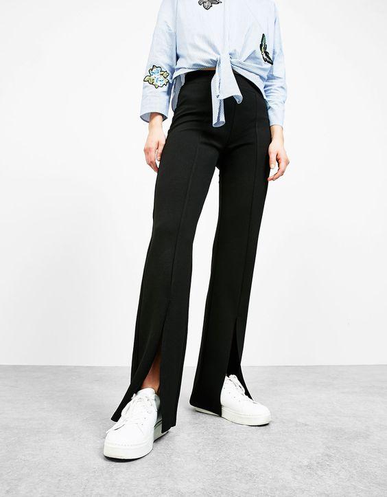 flare leggings slit