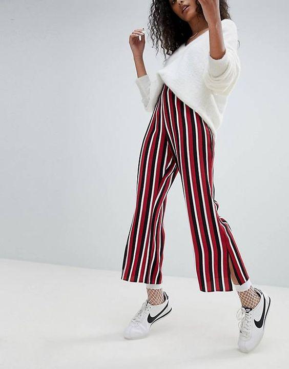 flare leggings striped