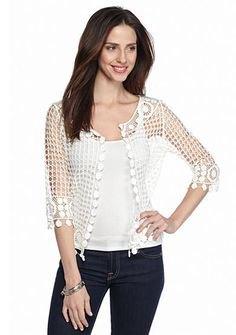black crochet lace on shoulder vests on skinny jeans