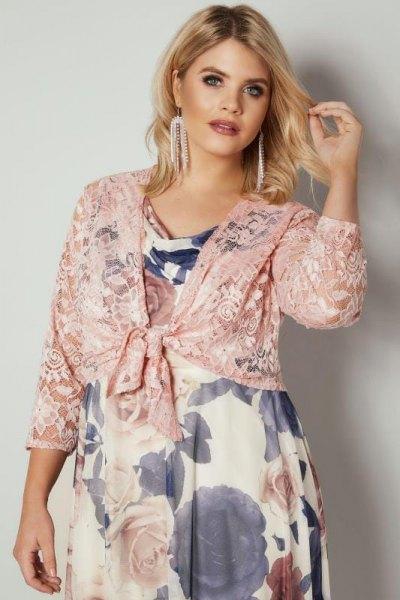 pink shoulder floral floral baby doll dress