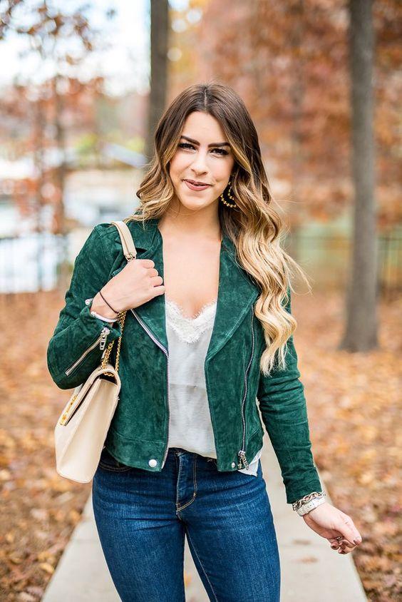olive jacket camisole