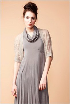 crepe bolero jacket gray blazer neck chiffon maxi dress