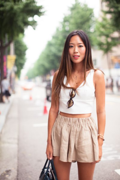 white cropped vest top light pink blown out mini shorts