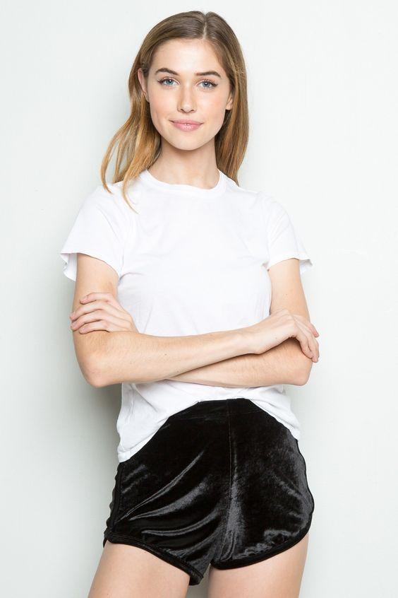 lisette shorts black velvet