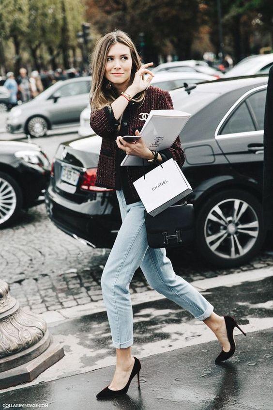 tweed blazer colorful burgundy