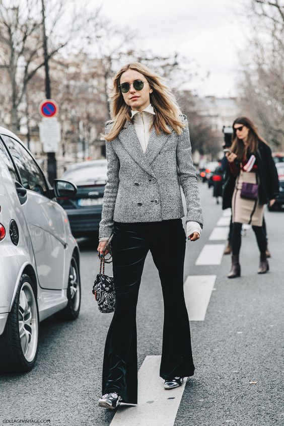 tweed blazer classic velvet watch bottom
