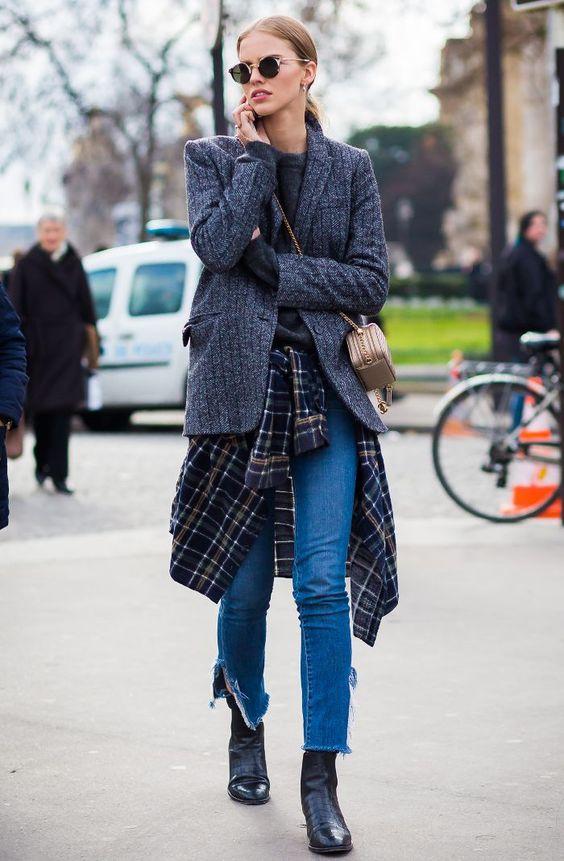 tweed blazer classic layer