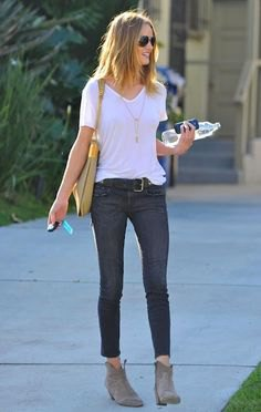 skinny ankle jeans gray suede short boots