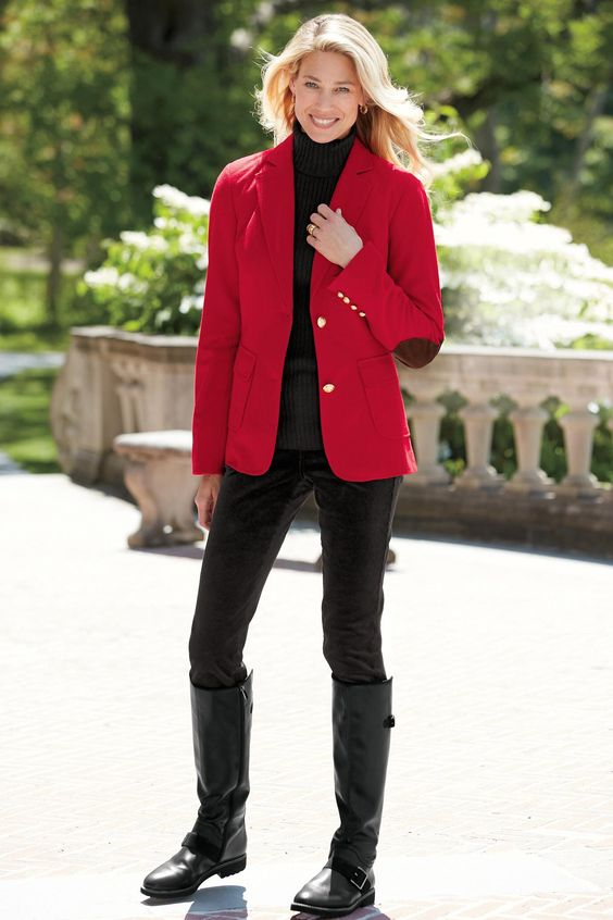 blazer with elbow colors red