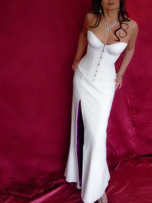 strapless bodycon high split maxi leather dress