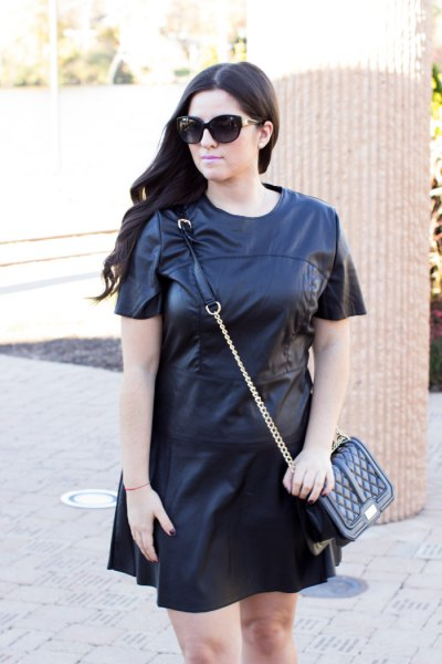 black shirt t-shirt dress