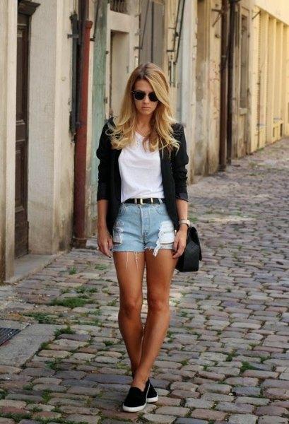 black cardigan jeans