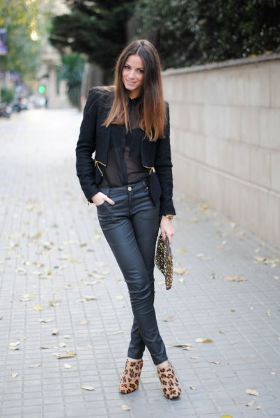 black blazer button up shirt