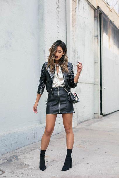 metallic top leather jacket