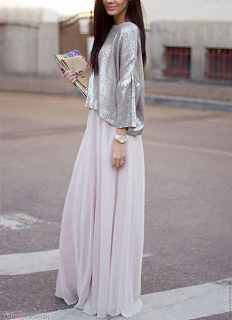 metallic top tulle skirt