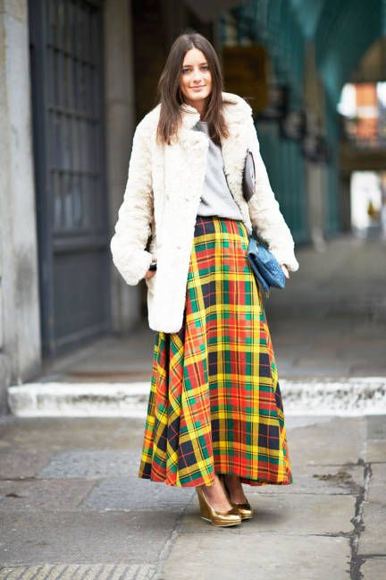yellow plaid skirt teddy bear