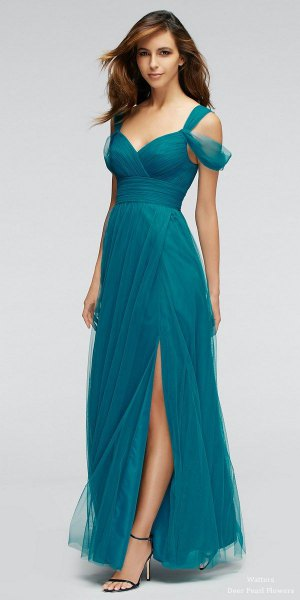 cold shoulder gathered waist dress chiffon