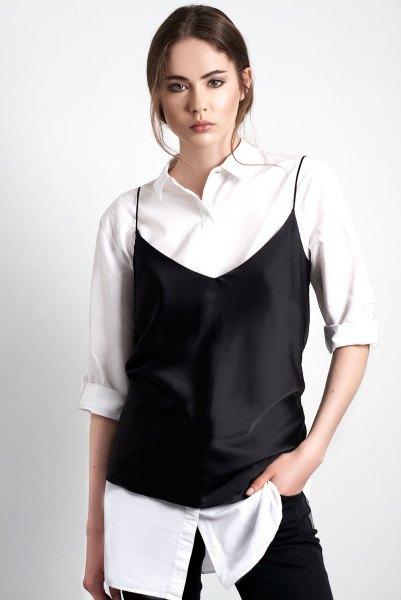white big white shirt