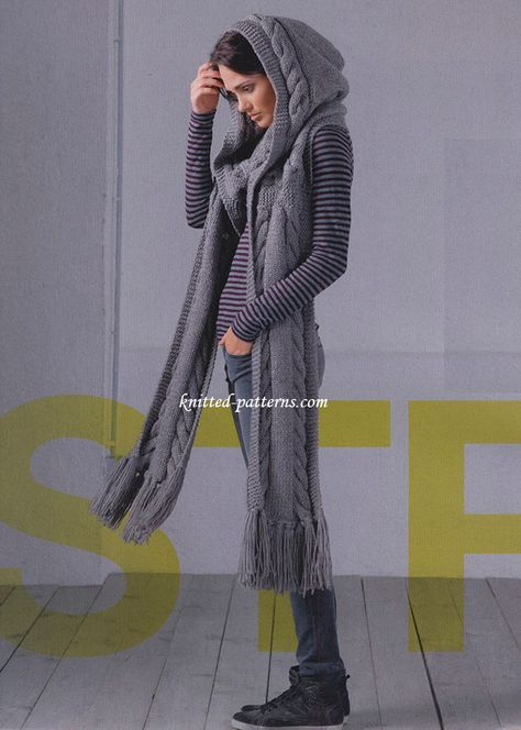 hood scarf dark gray