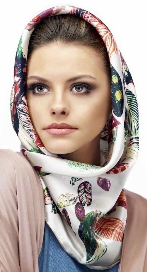 hood scarf page printed