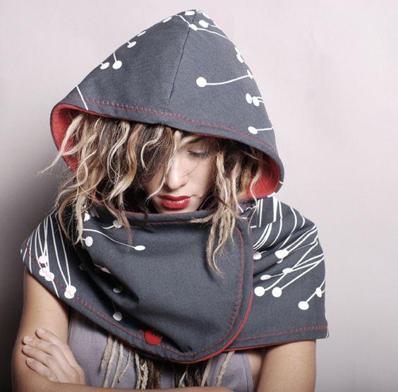 hood scarf cotton sports