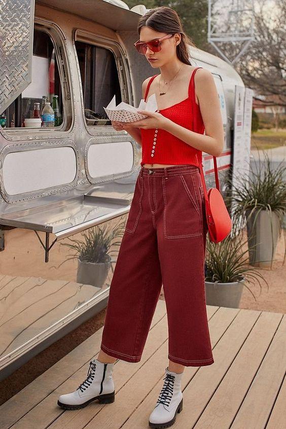 carpenter pants matchy red