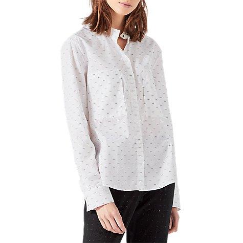white shirt dotted pattern
