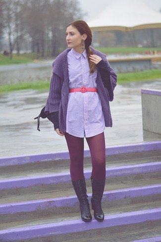 long denim belt shirt dress