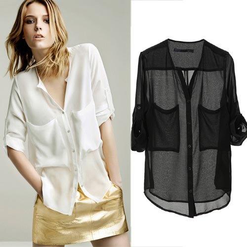white silk collarless shirt gold mini skirt