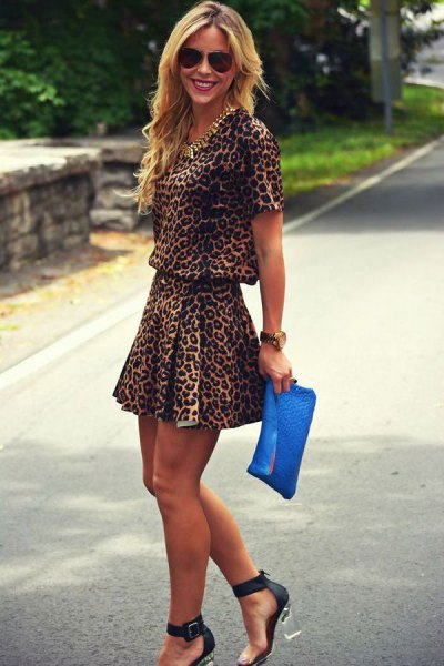 two piece leopard print my skater dress