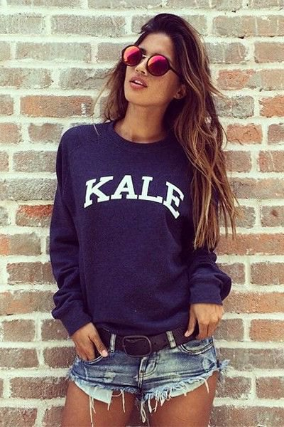 navy blue sweatshirt denim mini shorts
