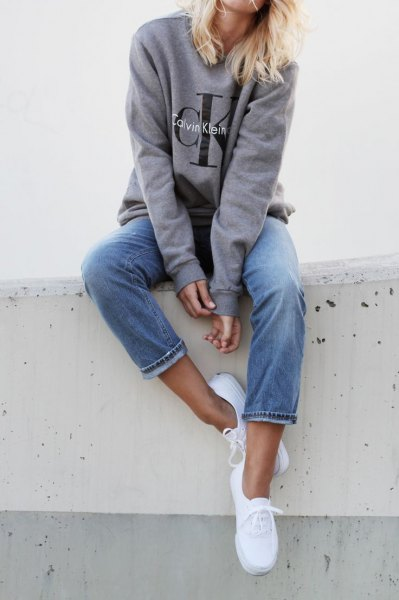 gray sweater with jeans for jeans in jeans