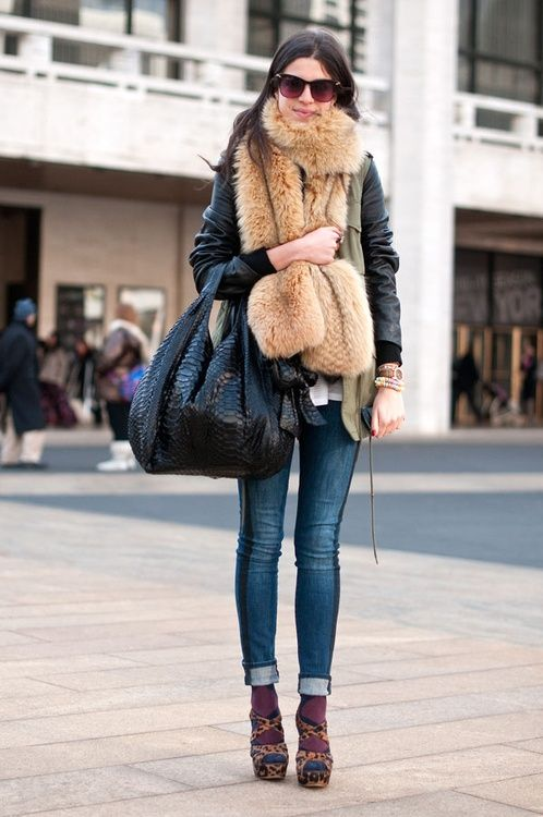 faux fur scarf relaxed