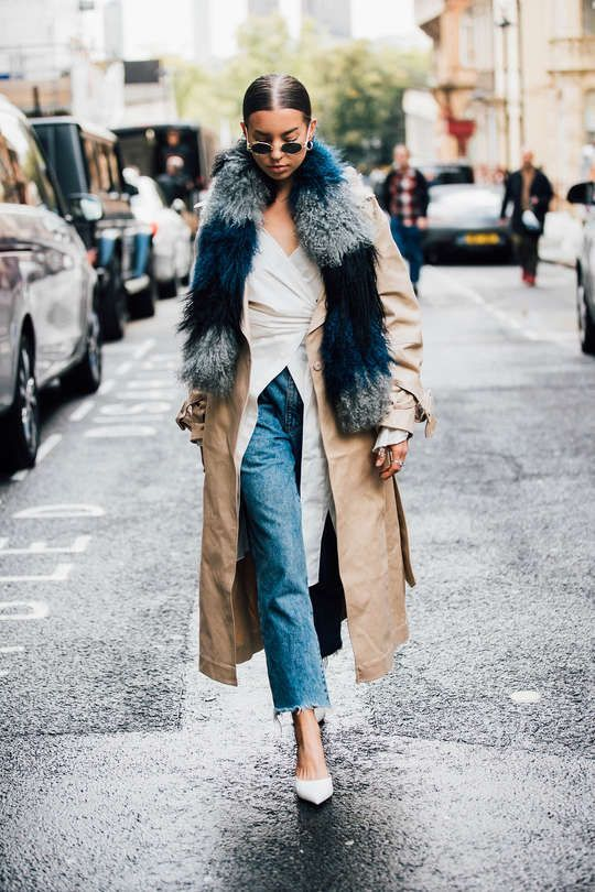 faux fur scarf camel skirt