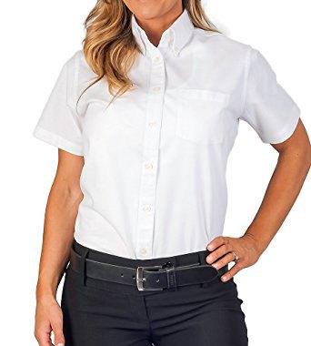 white short sleeve oxford shirt black skinny chinos