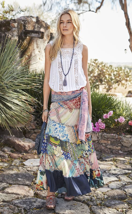 elastic waist dress gypsy
