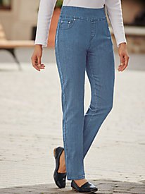 white form fitting top high rise straight jeans