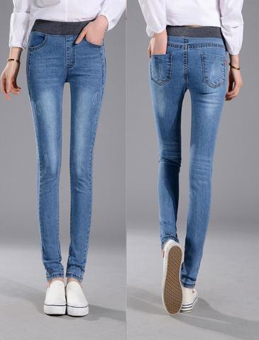 white button up shirt elastic waist skinny jeans