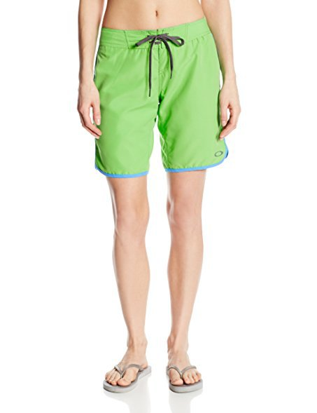lime and pink board shorts green sandals