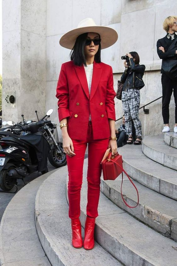 red blazer all red