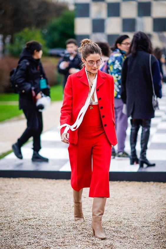 red blazer cropped