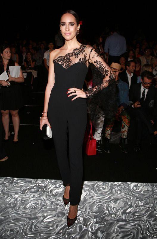 black lace jumpsuit one shoulder