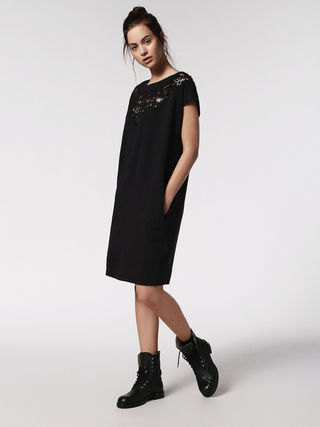 hybrid black shift dress