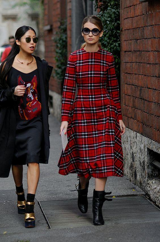 flannel dress ladylike