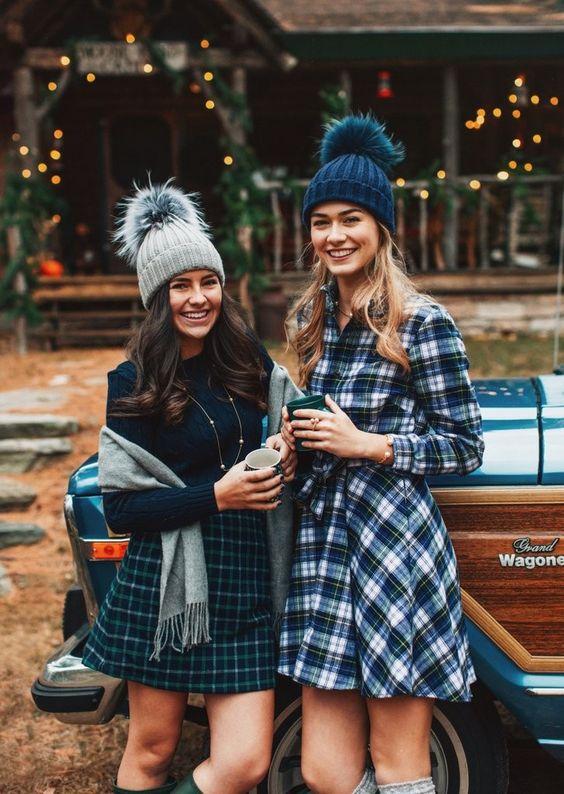 flannel dress mountain