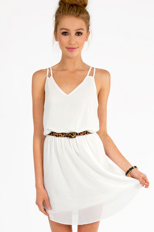 white tank dress details