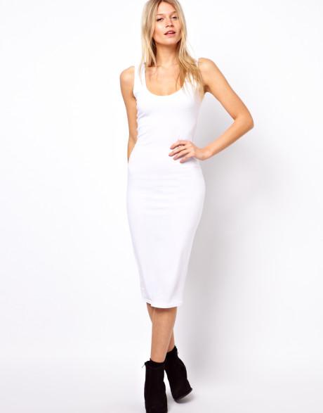 white tank dress minimal casual