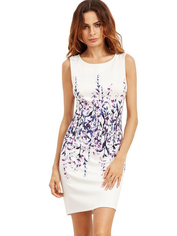white tank dress flowers