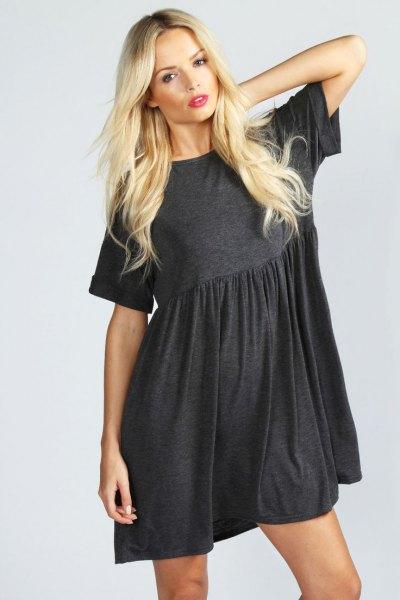 gray cotton sock dress