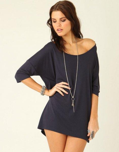 batwing a shoulder t-shirt dress